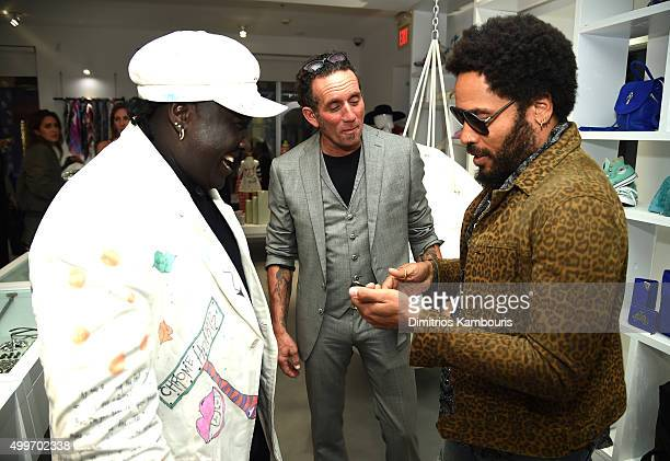 7ba50c52fc2c Artist Richard Stark and Lenny Kravitz attends Chrome Hearts Celebrates Art  Basel With Laduree Sean Kelly