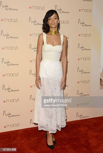 Artist Rihanna launches Nude by Rihanna at Macy's Westfield Century City on December 1 2012 in Century City California