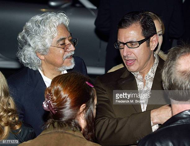 "Artist Robert Graham and actor Jeff Goldblum attend the film premiere of ""The Life Aquatic With Steve Zissou"" on November 20, 2004 at the Harmony..."