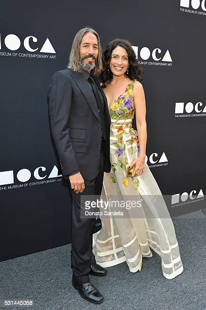Artist Robert Russell and actress Lisa Edelstein attend the MOCA Gala 2016 at The Geffen Contemporary at MOCA on May 14 2016 in Los Angeles California