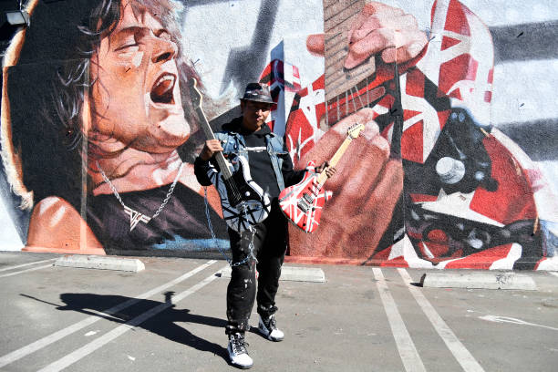 "CA: Unveiling Of Eddie Van Halen Mural ""Long Live The King"" By Artist Robert Vargas"