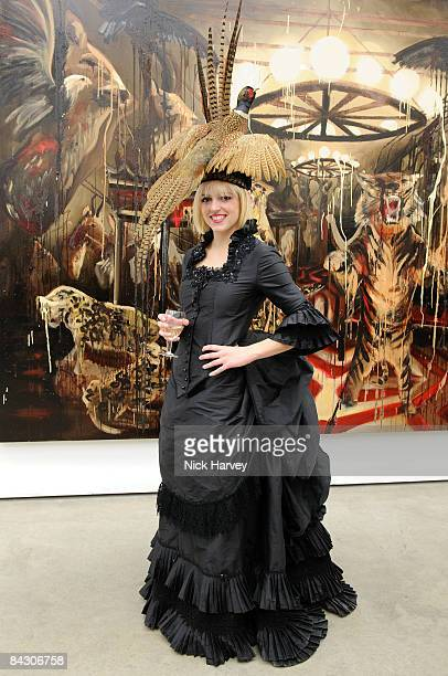 Artist Rosson Crow attends a Private View of Rosson Crow at White Cube on January 15 2009 in London England