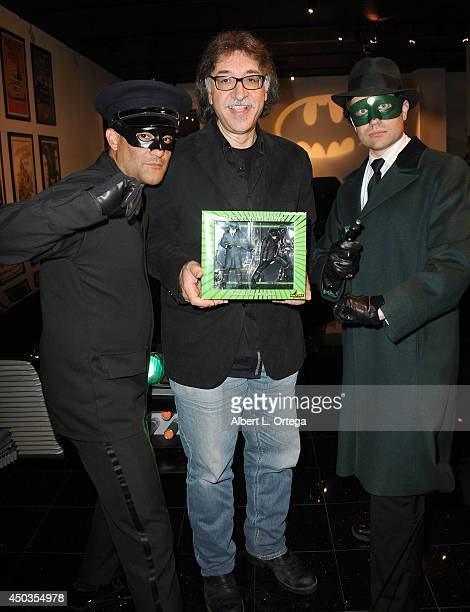Artist Ruben Procopio with The Green Hornet and Kato at the 'Batman 66 Meets The Green Hornet' Comic Book Kickoff Fatman On Batman Live Podcast With...