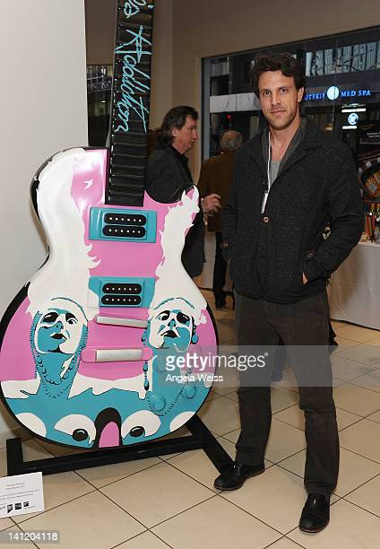 Artist Ryan McCann attends the unveiling of the 2012 Gibson Guitartown new round of guitars on The Sunset Strip at Hornburg Jaguar on March 12 2012...