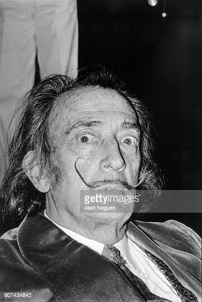 Artist Salvador Dali attends the Premiere of Jesus Christ Superstar at the Theatre National Populaire in Paris.