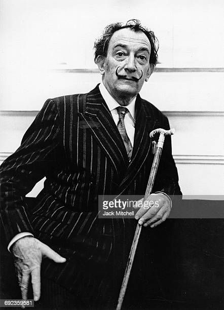Artist Salvador Dali who designed sets and costumes for a number of Harkness Ballet repertory May 1966