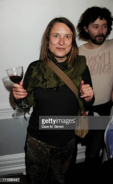 Artist Sarah Lucas attends The ICA Fundraising Gala held at the Institute of Contemporary Arts on March 29 2011 in London England