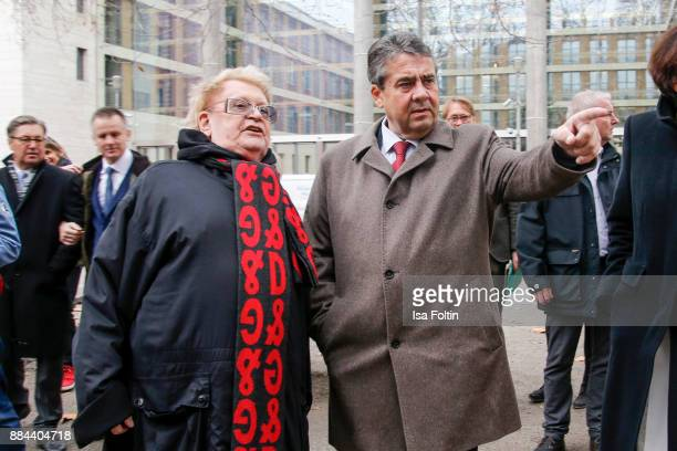 Artist HA Schult and Federal Minister for Foreign Affairs Sigmar Gabriel opened the event 'Trash People Halt in Berlin' at the invitation of...