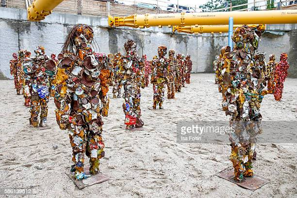 Artist HA Schult presents 'Trash People goes Berlin' at the invitation of Frankonia Eurobau in Berlin Hundreds of humansized figures made out of...