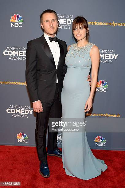 Artist Scott Campbell and actress Lake Bell attend 2014 American Comedy Awards at Hammerstein Ballroom on April 26, 2014 in New York City.
