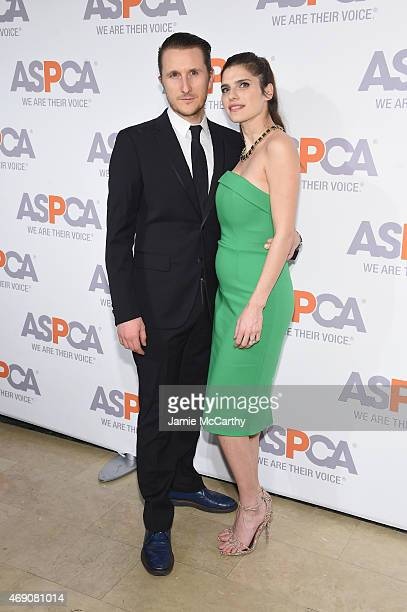 Artist Scott Campbell and actress Lake Bell attend ASPCA'S 18th Annual Bergh Ball honoring Edie Falco and Hilary Swank at The Plaza Hotel on April 9...