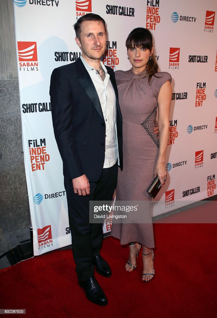 Artist Scott Campbell (L) and wife actress Lake Bell attend a screening of Saban Films and DIRECTV's 'Shot Caller' at The Theatre at Ace Hotel on August 15, 2017 in Los Angeles, California.