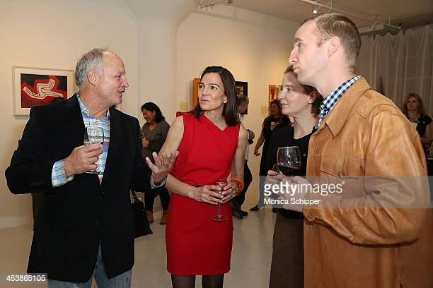 Artist Scott Christopher artist Elizabeth Christopher and guests attend 'love art give a smile' Art Fashion And Design Benefit at Clen Gallery on...