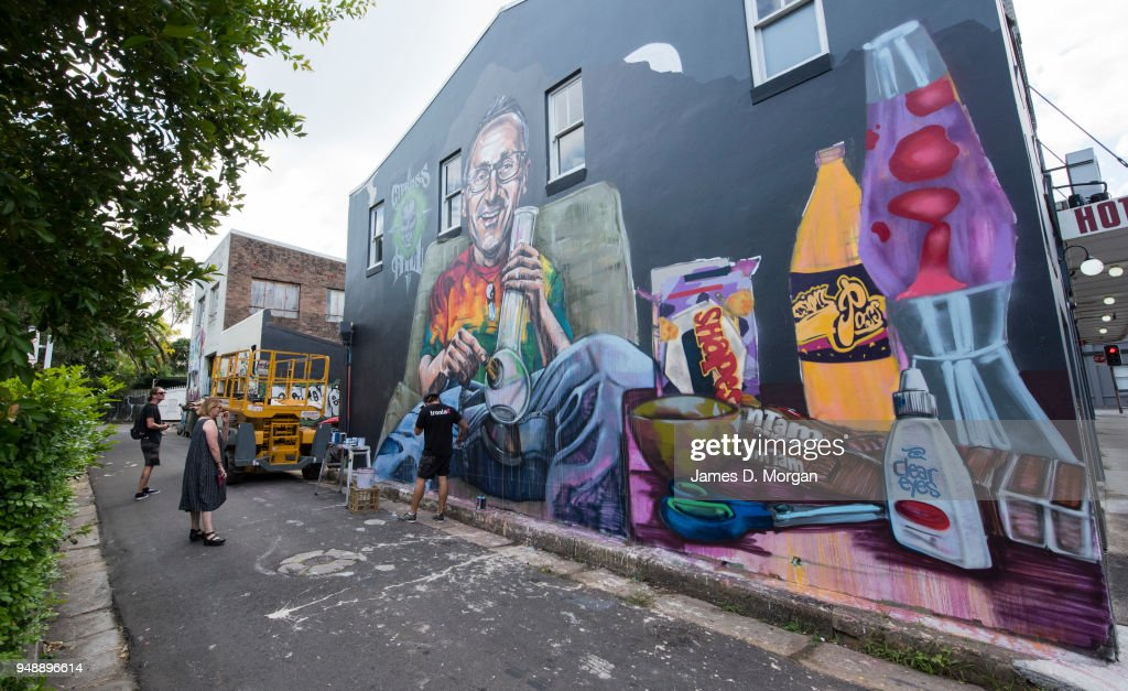 Mural Of Senator Richard Di Natale In Response To Greens Push To Legalise Cannabis