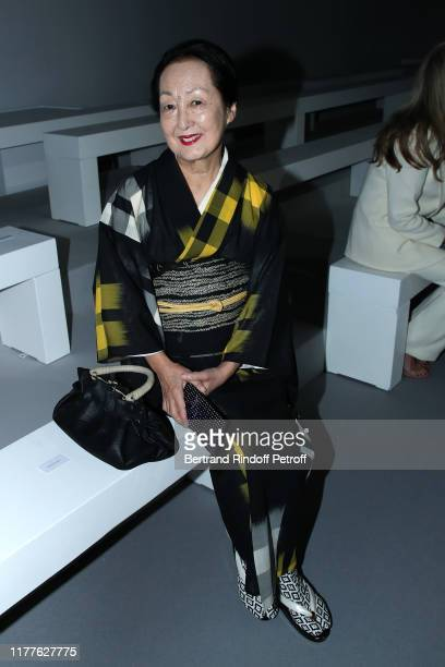 Artist Setsuko Klossowska de Rola attends the Haider Ackermann Womenswear Spring/Summer 2020 show as part of Paris Fashion Week on September 28 2019...