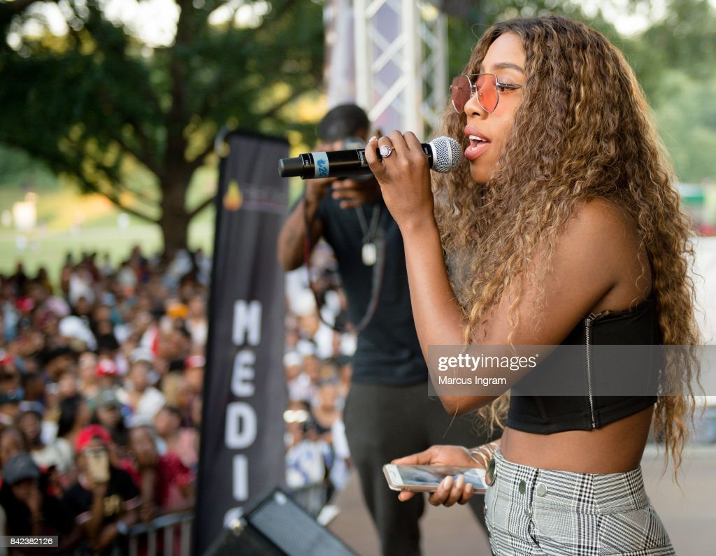 Artist Sevyn Streeter performs on stage during the 2017 Pure Heat Community Festival at Piedmont Park on September 3, 2017 in Atlanta, Georgia.
