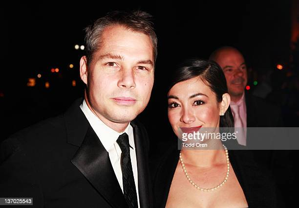 Artist Shepard Fairey and Amanda Fairey attend Audi presents The Art of Elysium's 5th annual HEAVEN at Union Station on January 14 2012 in Los...