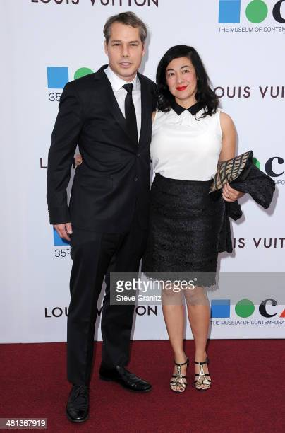 Artist Shepard Fairey and Amanda Fairey attend MOCA 35th Anniversary Gala Celebration at The Geffen Contemporary at MOCA on March 29 2014 in Los...
