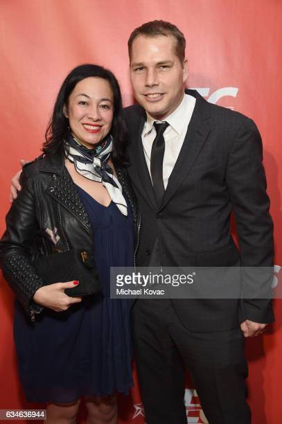 Artist Shepard Fairey and Amanda Fairey attend MusiCares Person of the Year honoring Tom Petty at the Los Angeles Convention Center on February 10...