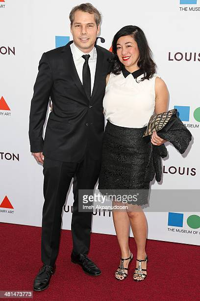 Artist Shepard Fairey and Amanda Fairey attend The Museum Of Contemporary Art Los Angeles Celebrates 35th Anniversary Gala Presented By Louis Vuitton...