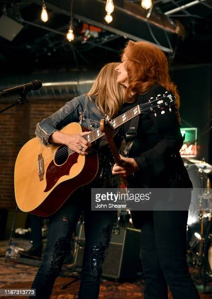 Artist Sheryl Crow and Bonnie Raitt perform onstage during a special event hosted by Spotify and AmericanaFest at Cannery Ballroom on September 10...