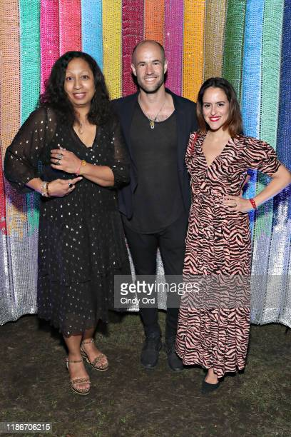 Artist Shinique Smith BOTTLETOP cofounder Cameron Saul and Carla Medeiros Bezerra De Mello attend the #TogetherBand Party during Art Basel Miami 2019...