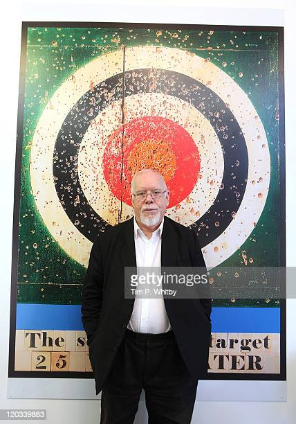 Artist Sir Peter Blake attends the launch of the Fred Perry and Sir Peter Blake 'Blank Canvas Clothing Project' at Fred Perry in Old Spitalfields...