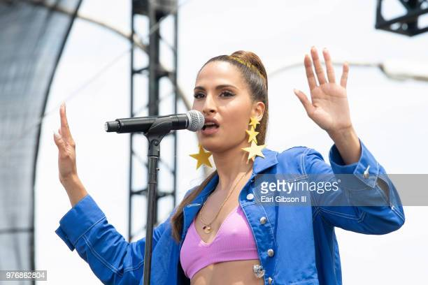 Artist Snoh Aalegra performs at Smokin' Grooves Festival at The Queen Mary on June 16 2018 in Long Beach California