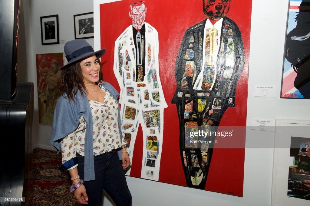 Artist Sona Mirzaei attends the Malibu Guitar Festival Gallery Opening Reception at Malibu Village on May 12, 2017 in Malibu, California.