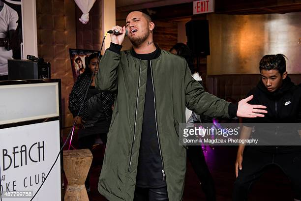 Artist Stan Walker of 'Born to Dance' performs his new single 'Start Again' during 2015 TIFF at Nikki Beach on September 11 2015 in Toronto Canada