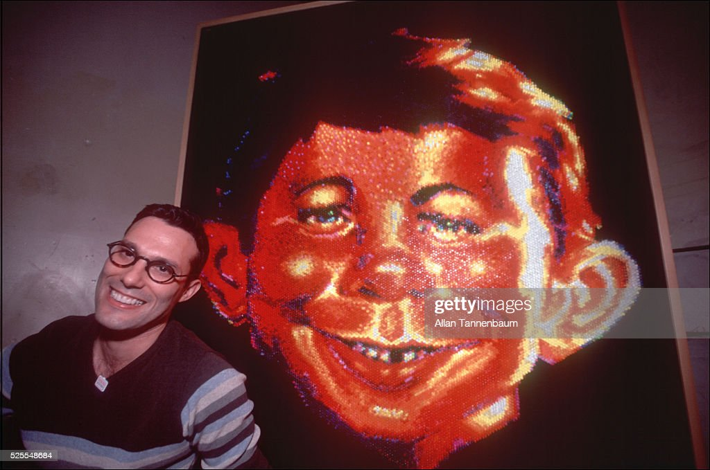 Steve DeFrank with his 'Alfred' : News Photo