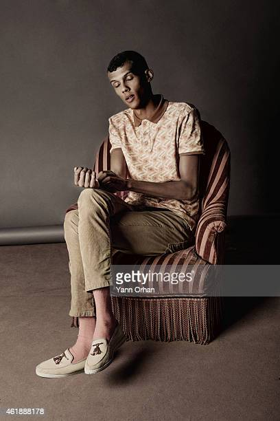 Artist Stromae is photographed for Self Assignment on September 11 2014 in Paris France