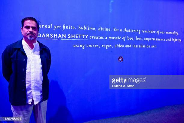 Artist Sudarshan Shetty attends the third edition of Chivas 18 Alchemy 2019 on March 16 2019 in New Delhi India