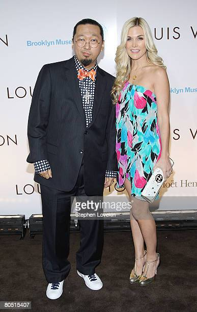 Artist Takashi Murakami and socialite Tinsley Mortimer attend the Louis Vuitton gala opening of the Murakami exhibition at The Brooklyn Museum on...