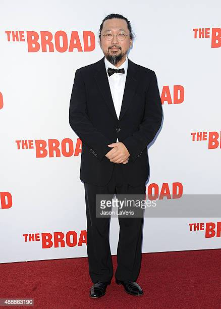 Artist Takashi Murakami attends the Broad Museum black tie inaugural dinner at The Broad on September 17 2015 in Los Angeles California