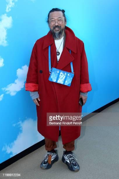 Artist Takashi Murakami attends the Louis Vuitton Menswear Fall/Winter 2020-2021 show as part of Paris Fashion Week on January 16, 2020 in Paris,...