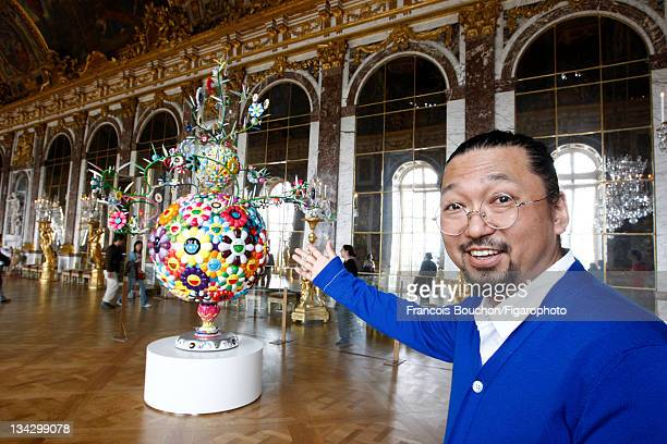 Artist Takashi Murakami is photographed at his installation in Versailles for Le Figaro Magazine on September 7 2010 in Versailles France Published...