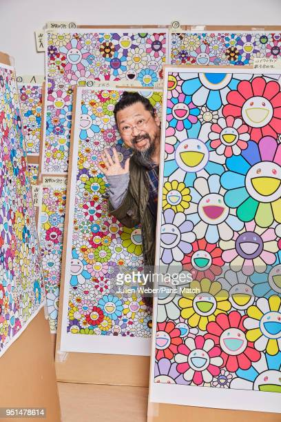 Artist Takashi Murakami is photographed for Paris Match on April 2 2018 in Tokyo Japan