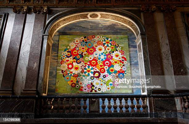 Artist Takashi Murakami's artwork is photographed in Versailles for Le Figaro Magazine on September 7 2010 in Versailles France Figaro ID 098673008...