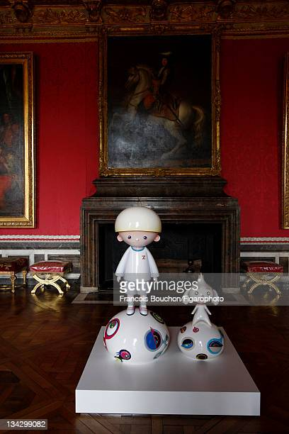 Artist Takashi Murakami's artwork is photographed in Versailles for Le Figaro Magazine on September 7 2010 in Versailles France Published image...