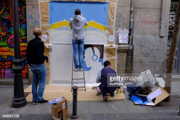 Artist take part at event ¡Pinta Malasana Artists illustrators and graphic designers of color fill the streets of the District of Malasaña In total...