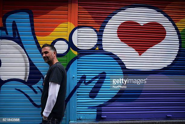 Artist take parta at event ¡Pinta Malasaña Artists illustrators and graphic designers of color fill the streets of the District of Malasaña In total...