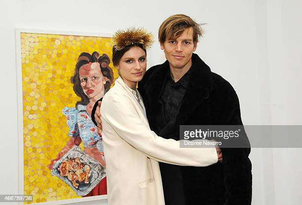 Artist Tali Lennox and Ian Jones attend Tali Lennox Exhibition Opening Reception at Catherine Ahnell Gallery on March 18, 2015 in New York City.