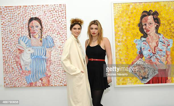 Artist Tali Lennox and Lola Fruchtmann attend Tali Lennox Exhibition Opening Reception at Catherine Ahnell Gallery on March 18, 2015 in New York City.