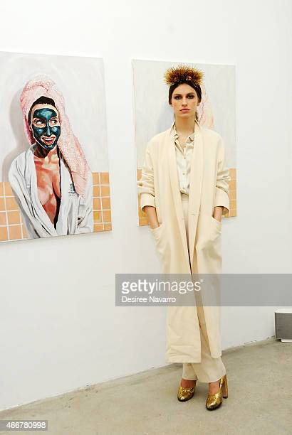 Artist Tali Lennox attends Tali Lennox Exhibition Opening Reception at Catherine Ahnell Gallery on March 18, 2015 in New York City.