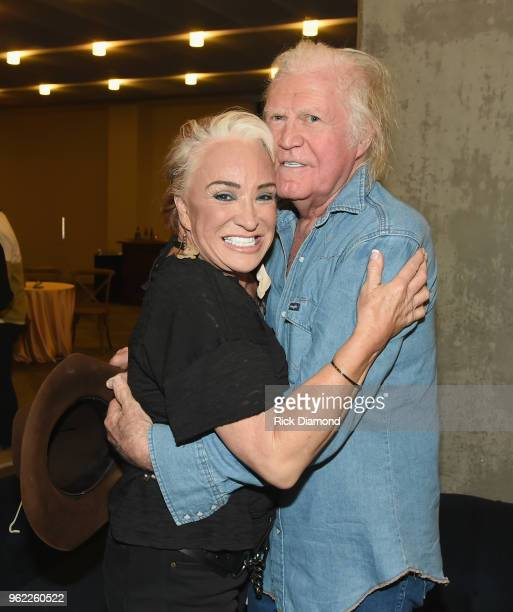 Artist Tanya Tucker and and singersongwriter Billy Joe Shaver attend the CMHOF Outlaws and Armadillos VIP Opening Reception on May 24 2018 in...