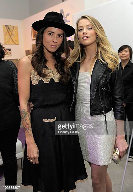 Artist Tasya van Ree and Actress Amber Heard attends Vanity Fair Campaign Hollywood 2011 continues with the Cosmopolitan of Las Vegas & The Art of...