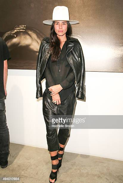 Artist Tasya van Ree attends 'Metallic Life' by Brian Bowen Smith brought to you by CASAMIGOS Tequila at De Re Gallery on October 22 2015 in West...