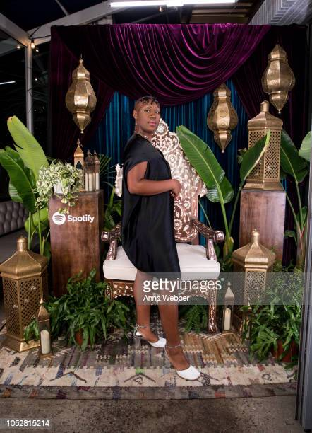 Artist Theresa Chromati attends Spotify Honors Black Female Creatives For Black History Is Happening Now Campaign on October 22 2018 in Santa Monica...
