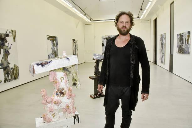 "FRA: ""Casanova"" Sculptor Thibault Hazelzet Book Signing At Galerie Christophe Gaillard"